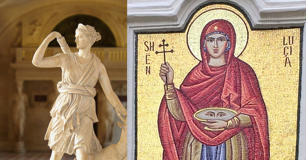 Artemis and Saint Lucy
